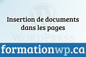 Insertion de documents dans les pages Wordpress